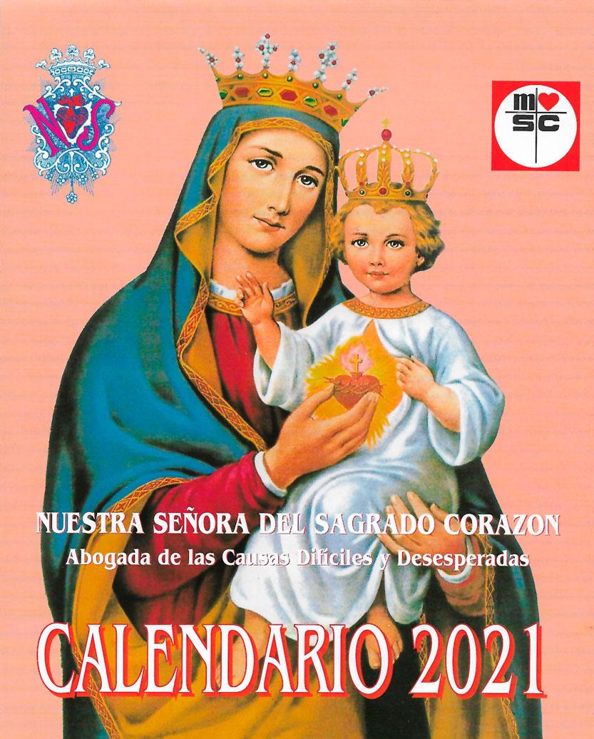 Calendario Nuestra Señora del Sagrado Corazón. Misioneros MSC