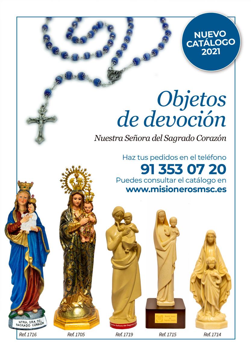 Catálogo de Objetos de devoción Nuestra Señora del Sagrado Corazón. Misioneros MSC