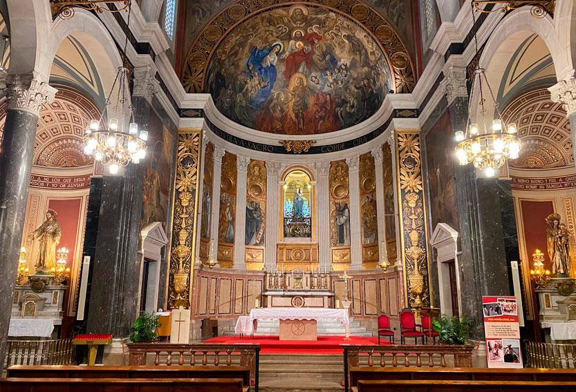 Santuario Parroquia Nuestra Señora del Sagrado Corazón. Barcelona. MSC